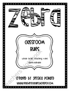 Zebra Classroom Rules Posters {Freebie} product from Tales-of-a-Teacherista on TeachersNotebook.com