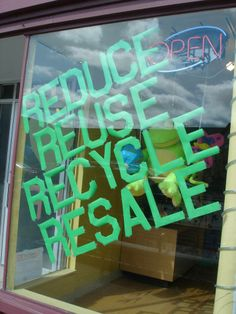 2014 Earth Day Window at The Funky Frog, Children's Resale Boutique