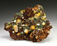 Wulfenite with Mimetite from Mexico