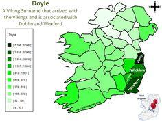 Doyle | Irish Origenes: Use Family Tree DNA to Discover Your Genetic Origins | Clans of Ireland | Irish Surnames Map