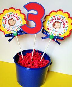 3 palos de fiesta centro de mesa de curious por sweetheartpartyshop