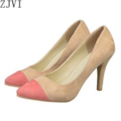 7db79882c YOUGOLUN fashion mix color pointed toe Thin High heels pumps woman shoes  summer autumn Female elegant women s causel work Pumps-in Women s Pumps  from Shoes ...