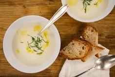Cauliflower Soup with Curry Oil, Gardenista