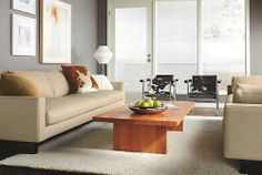 Great Room... Hess Leather Sofas - Sofas - Living - Room & Board