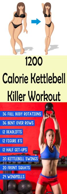8 Kettlebell Exercises For Weight Loss Calorie Burning Overdrive #health #beauty #Workout #killer #fat