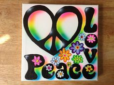 Original Peace Love Kids Painting by MpressArt on Etsy, $39.00 Airbrush T Shirts, Airbrush Art, Cute Canvas, Hippie Art, Screenprinting, Painting For Kids, Juices, Peace And Love, Graffiti
