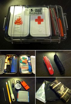 Nice organized compact outdoor survival kit. Nice use of altoids tins painted and labeled.