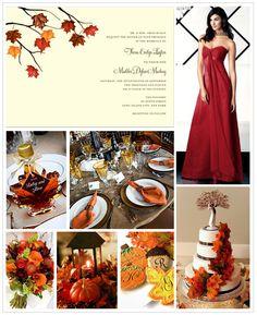 Fall Wedding Inspiration Board #weddings