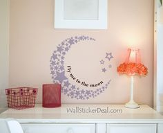 Moon And Star Scenery Wall Stickers