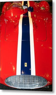 1955 Ferrari 750 Monza Scaglietti Spider Dsc2665 Metal Print by Wingsdomain Art and Photography  wingsdomain transportation car cars 1955 ferrari 750 monza 1955 ferrari 750 monza scaglietti spider 750 monza monza spider wing wings european car european cars import car impor…