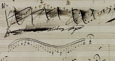 """violentwavesofemotion: """""""" From the manuscript of Beethoven's Violin Sonata in A, Op. with extensive revisions by himself as well as by his pupil Ferdinand Ries (x) """" """""""