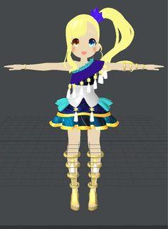 Anime 3d t-pose girl