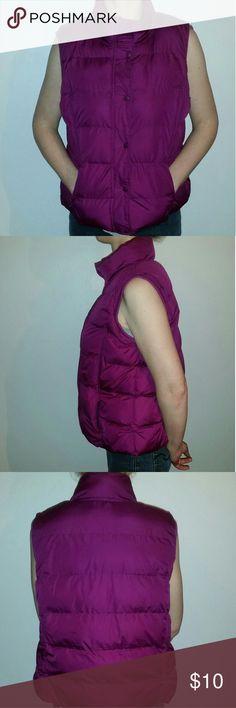 Purple puffer vest Women's purple puffer vest.  14.16 Jackets & Coats Vests