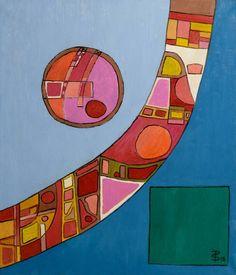 Border - Squares, Circles, Cells Abstract (Painting No. Abstract Art Painting, Original Paintings, Art Painting Oil, Abstract Painting, Painting, Abstract Art, Art, Abstract, Original Art