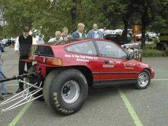 Crazy but cool Drag Toon car Honda Crx, Honda Civic, Weird Cars, Ford, Drag Cars, Small Cars, Car Humor, Amazing Cars, Amazing Red