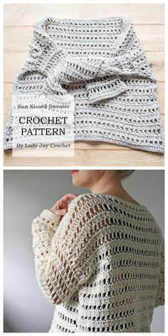 Crochet Sweater Sie Pullover 2019 Sun Kissed Sweater pattern by Justyna. Crochet Sweater Sie Pullover 2019 Sun Kissed Sweater pattern by Justyna Srock Pull Crochet, Bag Crochet, Mode Crochet, Crochet Woman, Crochet Crafts, Crochet Clothes, Crochet Stitches, Crochet Patterns, Easy Sweater Knitting Patterns