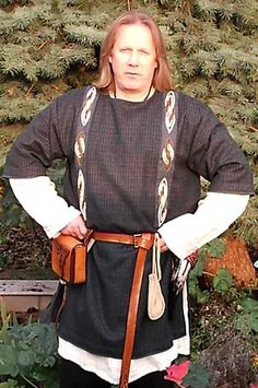 Tunika, Frühmittelalter, Längs-claven, Handstickerei Tunic, early medieval period, Clavi, handmade embroidery