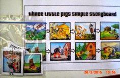 Ημέρα παιδικού βιβλίου - εβδομάδα φιλαναγνωσίας: 3 γουρουνάκια εναντίον λύκου Baseball Cards, Simple