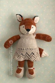 Little Cotton Rabbits #knittedfox