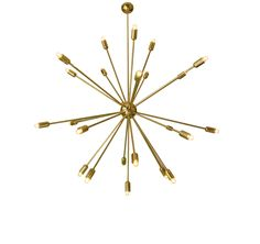 Sputnik mid century modern gold chandelier lamp with multiple lights. Century lamp. (656.00 USD) by LightingLampDesign