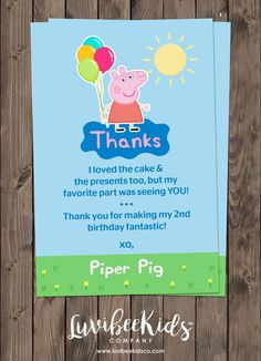 Peppa Pig Birthday Invitation Theme This adorable invitation is created as a digital file that 2nd Birthday Party Themes, Third Birthday, Birthday Party Decorations, Pig Decorations, Birthday Ideas, Peppa Pig Birthday Invitations, Pig Party, Birthdays, Television Set