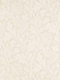 Buy Mulberry / Linen, Morris & Co. Thistle Wallpaper from our Wallpaper range at John Lewis & Partners. French Wallpaper, Beige Wallpaper, Victorian Wallpaper, Home Wallpaper, Textured Wallpaper, Pattern Wallpaper, William Morris Wallpaper, Morris Wallpapers, Thistle Wallpaper