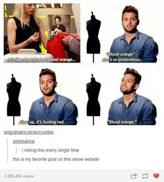 My favourite line from Project Runway.
