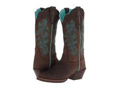 Justin SVL7312 leather chocolate/turquoise 12 sh 1.5h (179.95) NA 9/15