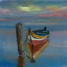 Astonishing sailboat painting - go to our story for more good tips! Acrilic Paintings, Seascape Paintings, Sailboat Painting, Boat Art, Pictures To Paint, Acrylic Art, Beautiful Paintings, Painting Inspiration, Watercolor Paintings