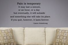 pain & quitting