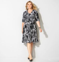 Pleated Paisley Fit and Flare DressPleated Paisley Fit and Flare Dress,