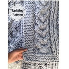 Excited to share this item from my #etsy shop: Knit Blanket // Knitted Blanket // Knit Pattern // Blanket Pattern // Knitting Pattern // Knitted Throw // Throw Blanket // Yehovah Blanket