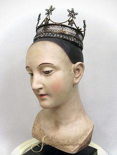 "French Star Drape Santos Crown with Rhinestones - Size Medium 6.5"""