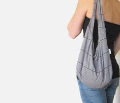 Hobo Bag Slouch Bag Sling Purse Gray and by SmiLeaGainCreations, $30.00 I WANT ONEEEE