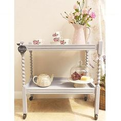 pretty tea trolley could also be used as a drinks trolley