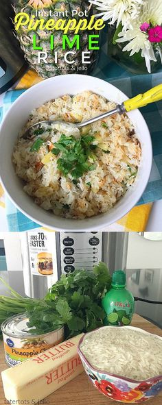 Instant Pot Pineapple Lime Rice 8 Minutes