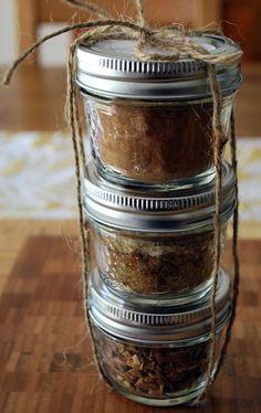 Spice mix jars...love the idea