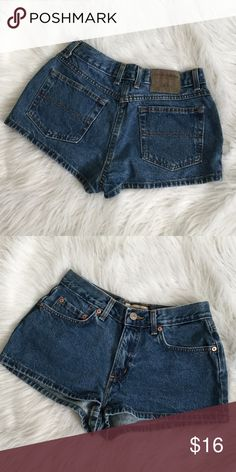 "Denim Short Shorts Denim Short Shorts - 1"" Inseam  CONDITION:Gently Used Condition OFFERS WELCOMED London Jean Shorts"