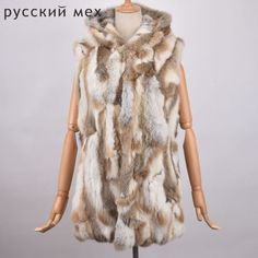 >> Click to Buy << 2017 Genuine Rabbit Fur Vest Hooded Rabbit Fur Gilet Winter Real Fur Jacket For Women Fashion Real Rabbit Fur Coats Sleeveless #Affiliate