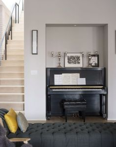Black Piano in Family Loft in Brooklyn I Remodelista Loft Design, Küchen Design, House Design, Interior Design, Black Piano, Living Spaces, Living Room, Living Area, Home And Living