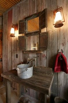 Coolest sink ever! Awesome for a garden shed!