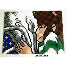 Chihiro and Haku - Spirited Away  perler beads by _beads_art - Pattern: https://www.pinterest.com/pin/374291419010723160/