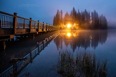 Emerald Lake Lodge in the twilight fog | by PIERRE LECLERC PHOTO