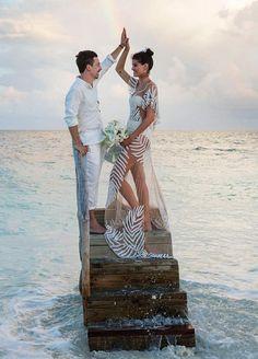 5 photos of Isabeli Fontana's Maldives wedding: