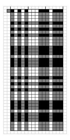 Neutral plaid chart for knitting.