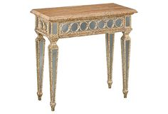 Can't afford one much less the two I envision as bedside tables next to my wrought-iron (repro, sadly!) bed.  Stratford Console Table on OneKingsLane.com