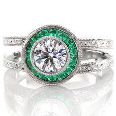 diamond and emerald ring - Google Search