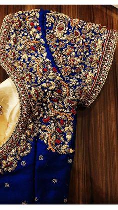 Outstanding Designer Blouses Collection from Prathiksha Design House Pattu Saree Blouse Designs, Designer Blouse Patterns, Fancy Blouse Designs, Bridal Blouse Designs, Blouse Neck Designs, Hand Work Blouse Design, Stylish Blouse Design, Bollywood, Sarees