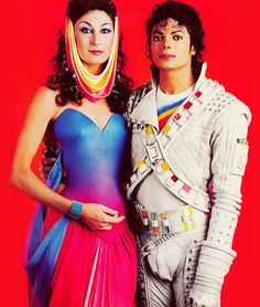 Angelica Huston and Michael Jackson - Carefully selected by GORGONIA www.gorgonia.it