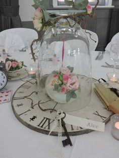 Décoration de table de mariage - Thème Alice aux pays des merveilles